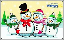 WALMART WINTER HAPPY SNOWMAN FAMILY WAVING HANDS #FD36262 COLLECTIBLE GIFT CARD