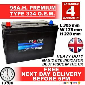 Extra Heavy Duty 250h Car Battery Ford Ranger Mitsubishi L200