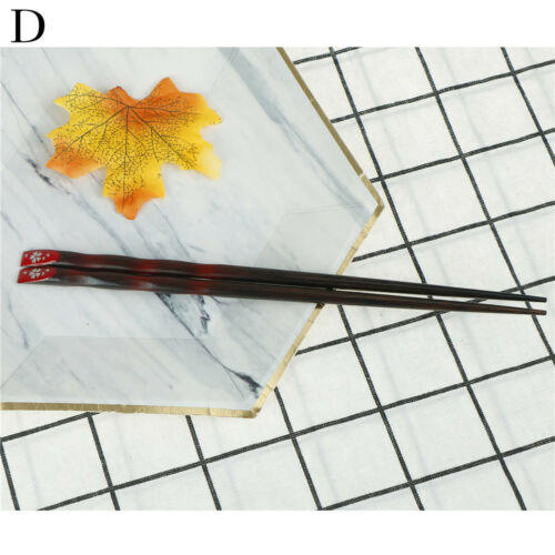 Delicate Japanese Cherry Blossoms Nail Craft Reusable Nature Wood ChopsticksTOCA
