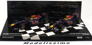 1-43-Minichamps-Red-Bull-rb7-World-Champion-Set-ma-GROSSE-Webber-2011