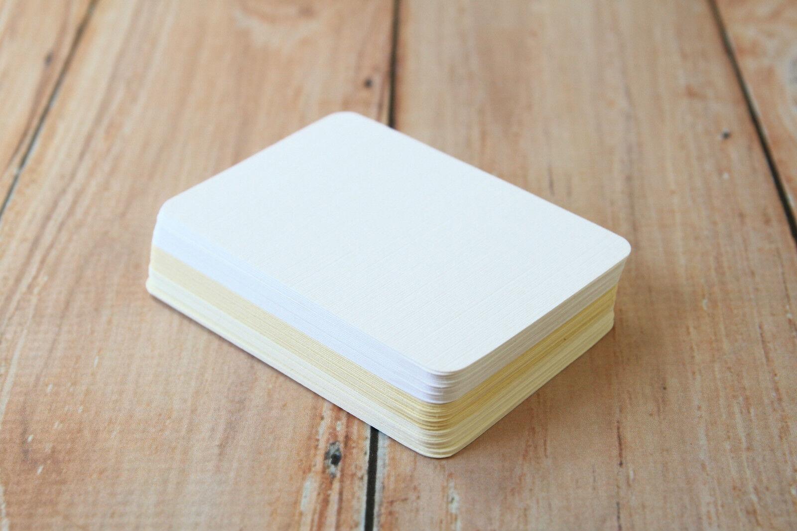 500pc bulk Lakeland LINEN colours DIY blank business cards ATC ...
