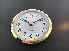 "Quartz Clock  Battery Fit-Up Insert Arabic Movement White 3 1/2"" fits a 3"" Hole"