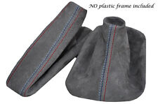 ANTHRACITE DARK GREY SUEDE M STITCH MANUAL SET FITS BMW 3 SERIES E36 E46 92-05