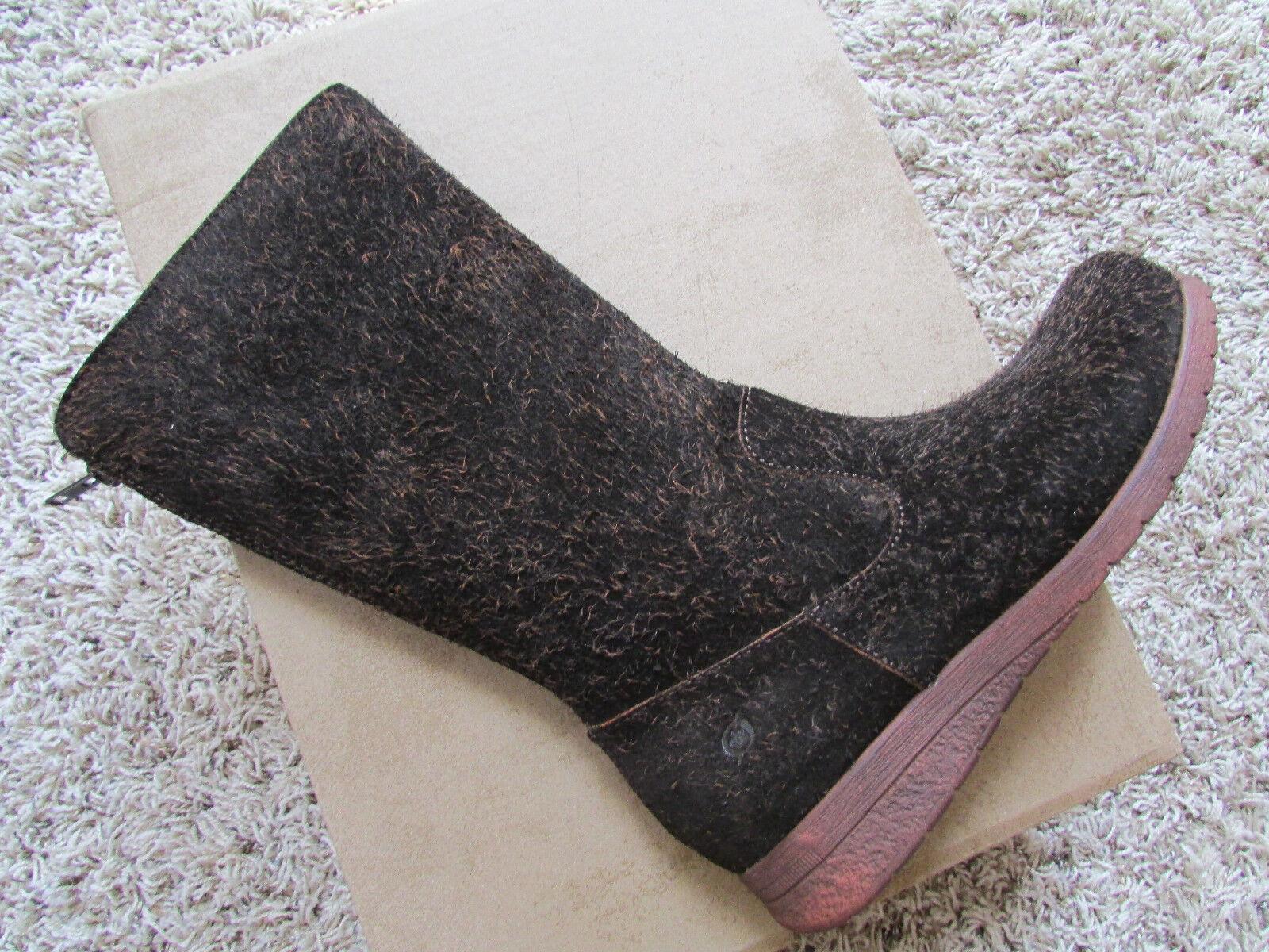 NEW BORN MINOLA BROWN SUEDE BOOTS WOMENS 7.5 ZIP BACK D80762