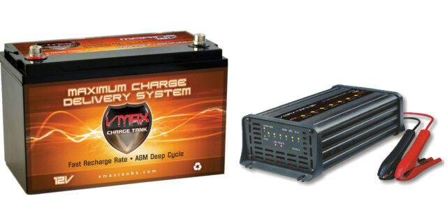 VMAX MR137 12V 120Ah AGM Battery for Minn Kota Traxxis 55 Trolling Motor