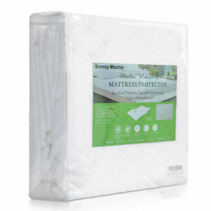Premium Bamboo Mattress Cover Topper Bed Protector Waterproof Soft Dual Layer