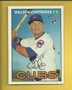 Willson-Contreras-RC-2016-Topps-Heritage-Rookie-Card-505-Chicago-Cubs-Baseball