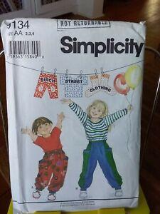 Oop-Simplicity-Birch-Street-9134-childs-pants-top-deep-pockets-sz-2-4-NEW
