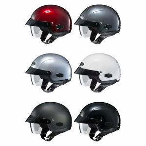 NEW-HJC-IS-Cruiser-Half-Shell-Motorcycle-Helmet-w-Sun-Shield-Pick-Size-Colo