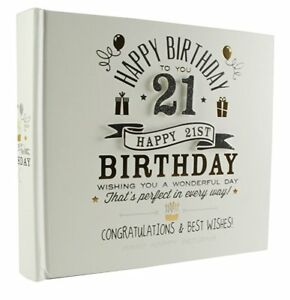 Happy Birthday 21st Signography Album di foto con scatola regalo FL29921 							 							</span>