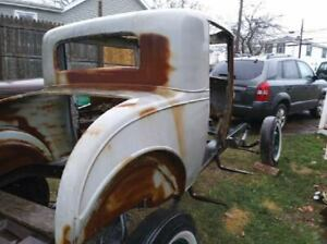 For sale rare 1931 Chevy 3 window coupe.