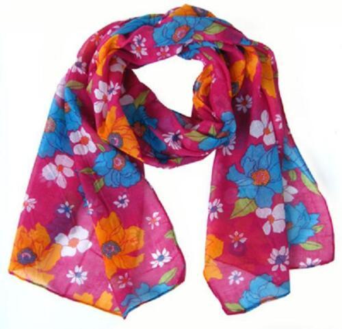 foulard NEUF l1543 Fleurs-vintage-écharpe-foulard