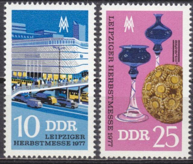 DDR Mi.-Nr. 2250-2251 postfrisch Leipziger Herbstmesse 1977