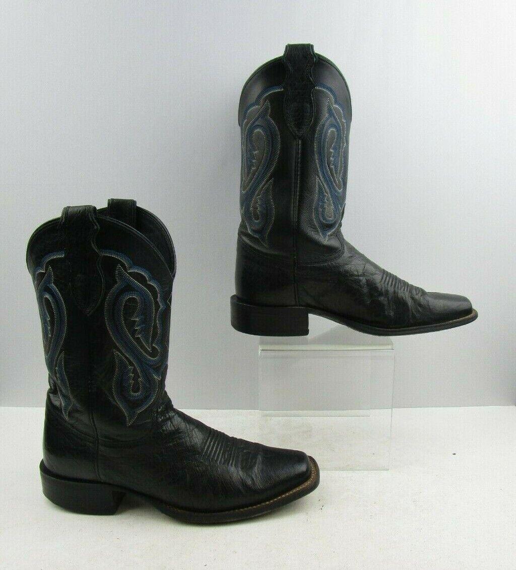 Para hombres cuero negro botas de vaquero occidental Justin Tamaño  8.5 D