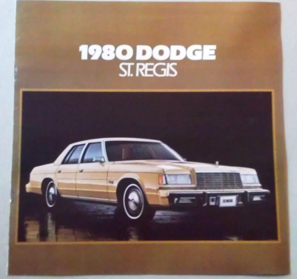Brochure 1980 Dodge St.Regis., Chrysler, emne: bil og