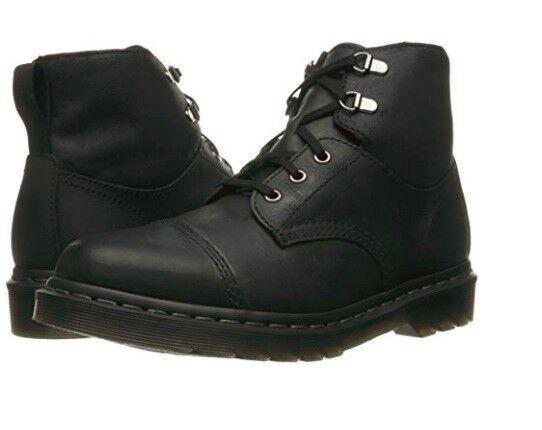 Dr. Martens Chelston 5 Eye Black Leather Cap Toe Combat Hiking Boots shoes Mens
