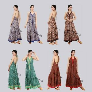 Wholesale-Lot-10-PC-Indian-Silk-dresses-for-women-beach-magic-Beautiful-dress