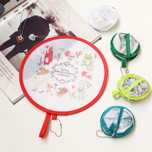 1pc Portable Round Japanese Style Folding Fans Hand Fan for Wedding Party  RHCUK