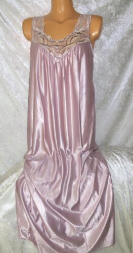 DAMART PINK SILKY LACY NIGHT DRESS//WEAR NIGHTIE CHEMISE CALF LENGTH UK 10//12 NEW