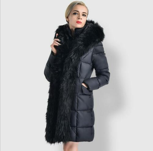 en Manteau capuche Vogue Veste Hiver Longue Veste duvet à en véritable chaud Slim fourrure Parka PnYxpqP