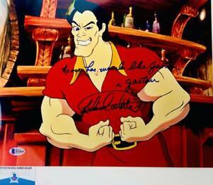 Richard-White-signed-Gaston-11X14-photo-Beauty-and-the-Beast-BAS-COA-W24626
