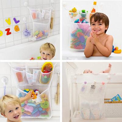 Baby Bad Spielzeug Tidy Lagerung Saugnapf Tasche Mesh Badezimmer Organizer st