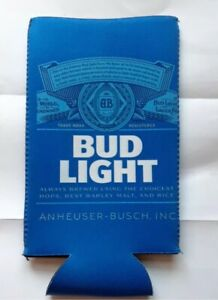Details about Bud Light Logo Beer Koozie - Fits 24 - 25 oz  Extra Ounce  Cans NEW