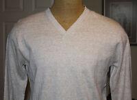 DILLARD'S PERRY ELLIS Vanilla V-Neck Mens Knit Sweater NWT F-890 Ret $79.50