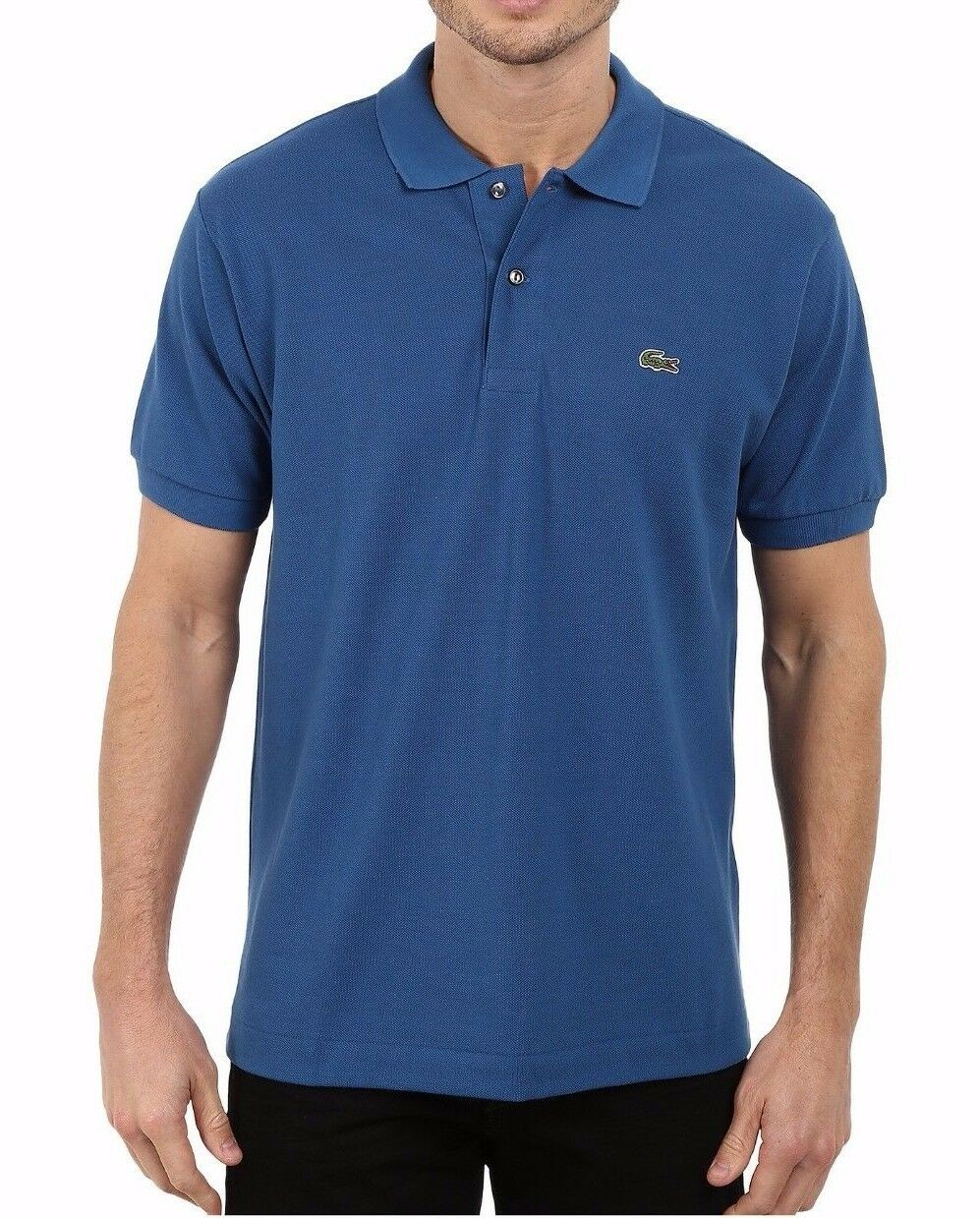 Lacoste Men's 0701 Officer bluee Caiman Classic Pique Polo Shirt Size 3 XS