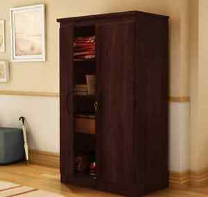Storage Cabinet With Lock Large Cherry Wood Office Laundry ...