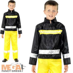 HonnêTeté Pompier Ras Du Cou Robe Fantaisie Garçons Services D'urgence Pompier Enfants Costume Outfit-afficher Le Titre D'origine Les Clients D'Abord