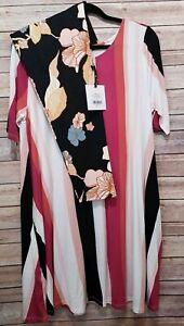 Swing botanische Xxl AgnesDora tuniek Vintage Autumn Outfit Stripe legging 3ALR54jq