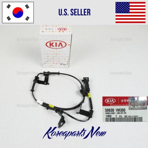 599301M410 KIA FORTE 2009-2013 PASSENGER CABLE for SENSOR ABS REAR WHEEL RIGHT