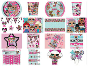 LOL-Suprise-Birthday-Party-Supplies-Girls-Dolls-L-O-L-Tableware-Decorations-New