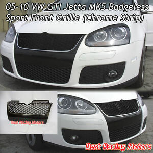 vw gti jetta mk badgeless front grille chrome