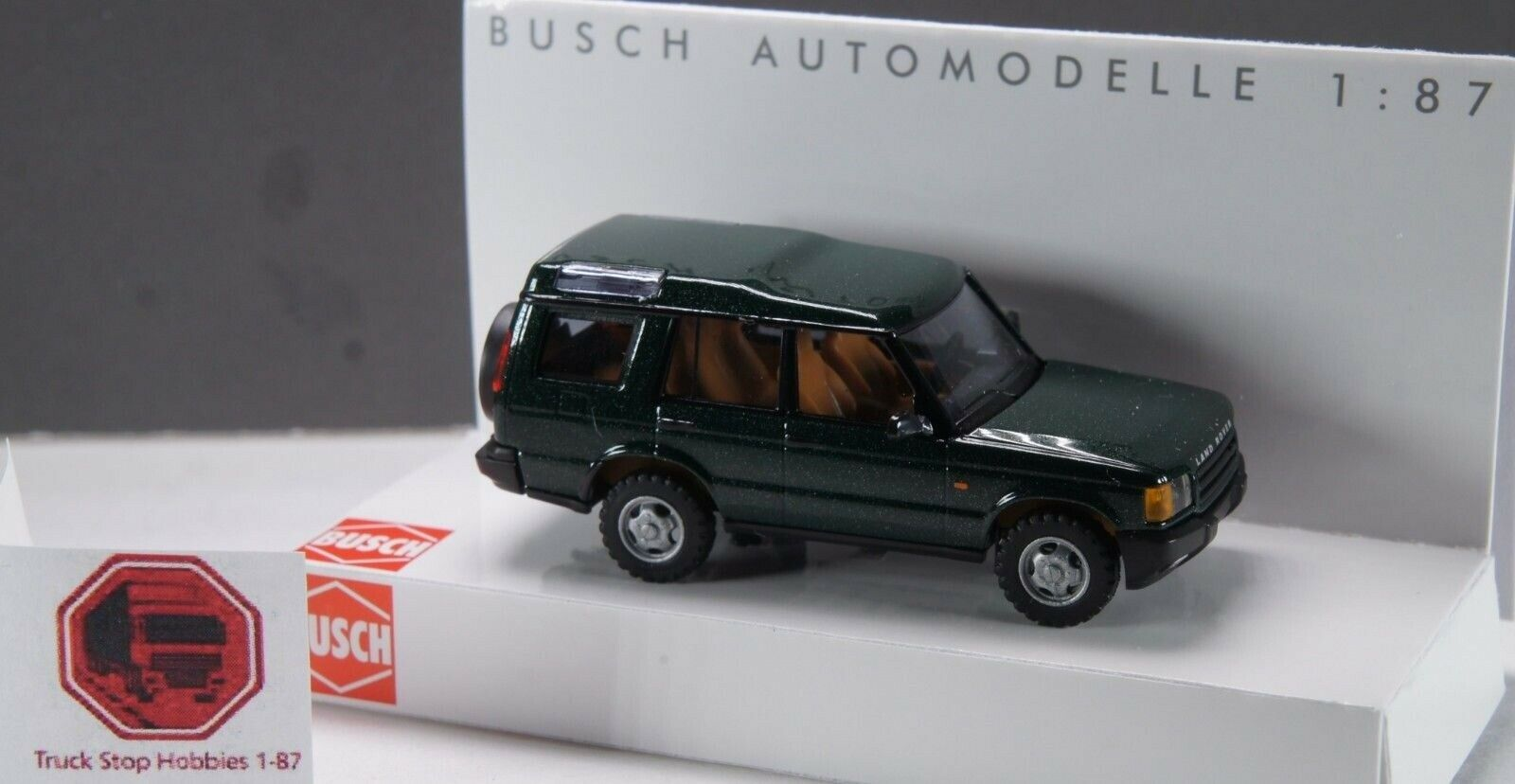 HO 1 87 Busch Land Rover Discovery - - - Green 23846c