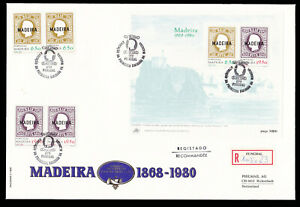 Portugal-Madeira-1980-Overprint-Registered-FDC-First-Day-Cover