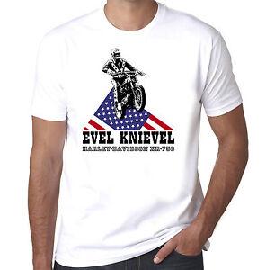 EVEL-KNIEVEL-Harley-Davidson-Stunt-Man-Retro-Vintage-MEN-039-S-amp-WOMEN-039-S-T-SHIRT