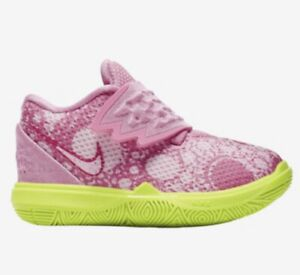 premium selection 562e7 a01fa Details about Nike Kyrie Irving 5 V Patrick Lotus Pink Green Spongebob  Infant Toddler Size