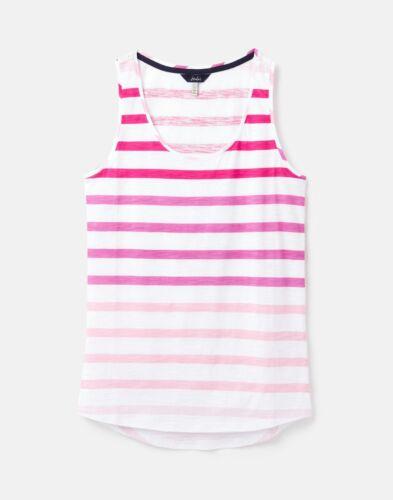 Joules 208580 Striped Jersey Vest CREAM PINK STRIPE
