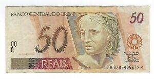 50-reais-Bresil-1998-c314-p-246g-Serie-AA-Brazil-billet