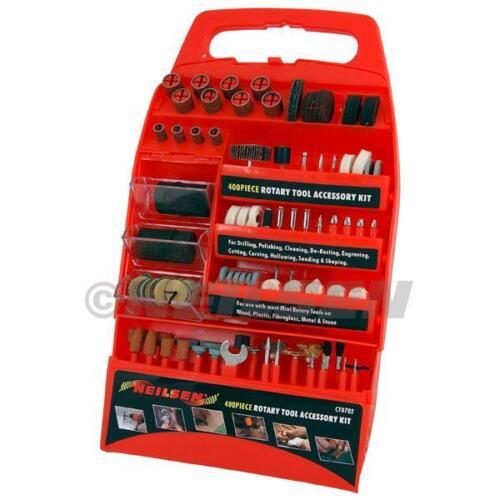 Neilsen Outil Rotatif Kit d/'accessoires 400 Pce Kit Die dremmel Drill Grind 0702 *