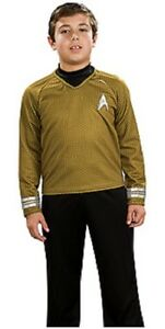 Gold Rubies Costume Star Trek Into Darkness Deluxe Captain Kirk Shirt with Emblem