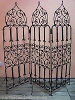 Moroccan Oriental Mediterranean Garden Room Divider Screen Paravent Wrought Iron