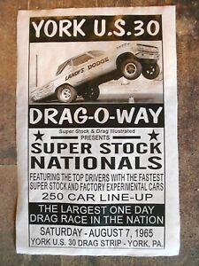 """DRAG STRIP YORK US30 DRAG-O-WAY LANDY/'S ALTERED DODGE POSTER 11/""""x17/"""" 602L"""