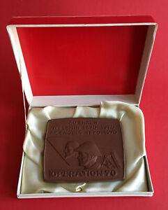 Ddr Böttger Medaille Mit Ovp Nva Ehrenplakette Straußberg 1970 500 Stück ( M125