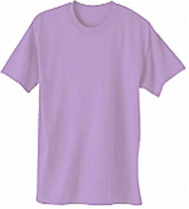 XL PLAIN LAVENDER T SHIRT 50/50 COTTON POLY FOR RED (PINK) HAT ...