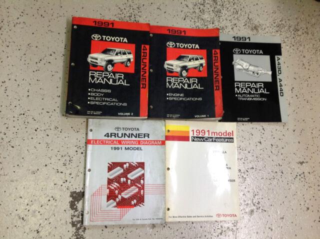 1997 Toyota 4runner Service Shop Repair Manual Set Oem ...