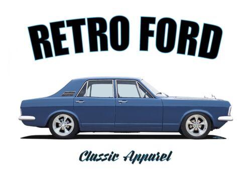 RETRO FORD CLASSIC CAR ROCKABILLY. MODIFIED FORD ZEPHYR mk4 t-shirt