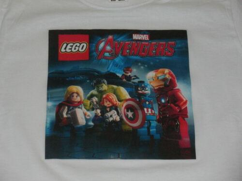 7 Colours Sizes 1-15 Yrs Lego Marvel Avengers Childrens T-Shirts